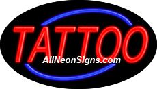 "Tattoo Flashing Neon Sign-ANSAR14014  Dimensions: 17""H x 30""L x 3""D  Custom colors ship in 5-7 business days  110 volt flasher transformer  Cool, Quiet, and Energy Efficient  Hardware & chain are included  Comes standard with 6' power cord  Indoor use only  1 Year Warranty/electrical components  1 Year Warranty/standard transformers."