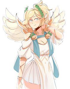 Mercy by CooliSushi.deviantart.com on @DeviantArt - More at https://pinterest.com/supergirlsart #victory #goddess #greek #mercy #overwatch #summer #games #summergames #fanart