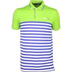 171b5624d RLX Golf Shirt - Stripe Tech Pique Island Lime SS16-L