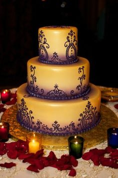 Purple Henna Inspired Cake