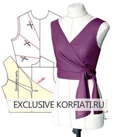 Dress Sewing Patterns, Blouse Patterns, Clothing Patterns, Blouse Designs, Pattern Of Blouse, Fashion Sewing, Diy Fashion, Ideias Fashion, Fashion Outfits