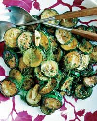 Sautéed Zucchini with Ginger and Dill | This is a light and lovely way to prepare zucchini, which gets quickly sautéed with garlic, shallots and ginger, then tossed with fresh dill.