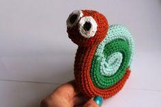 Hæklet snegl med DIY