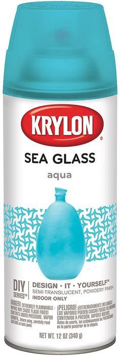 Amazon.com: Krylon K09057007 Sea Glass Spray Paint, Aqua, 12 Ounce: Arts, Crafts & Sewing Spray Paint Techniques, Weathered Paint, Stained Glass Paint, Aqua Glass, Spray Can, Flash, Paint Cans, Spray Painting, Diy Design