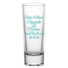 Personalized 2oz Tall Gl Shot Gles Wedding Favors By Factory21