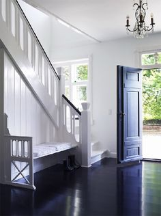 ENTRANCE SITUATION . the bench in the stairway but would have different colors, materials
