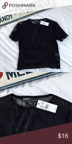 Brandy Melville Sheer Sparkly Top NWT!!! Brandy Melville Tops