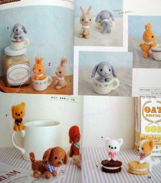 Felt Wool Petit Mascots n3123 Japanese Craft Book by PinkNelie