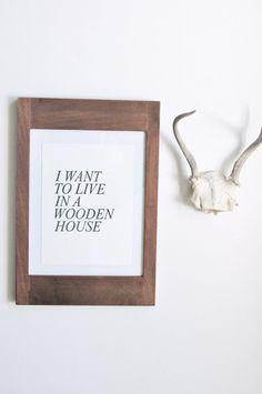 Wooden House Print | Little Paper Planes