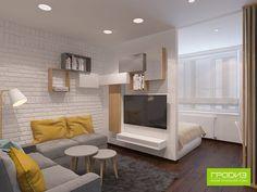 Layout with separator? Condo Interior Design, Small Apartment Interior, Small Apartment Design, Condo Design, Small Room Design, Studio Apartment Layout, Small Studio Apartments, Studio Apartment Decorating, Deco Studio