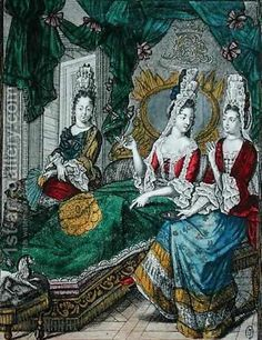Women Chatting or The New Mother, fourth quarter 17th century by Nicolas Arnoult (1650-1722)