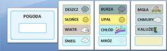 Jaka dzisiaj jest pogoda? - materiał do pobrania, drukowania i wykorzystania - Pani Monia