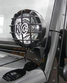 KC Hilites 7316 black Light Mounting Brackets for Jeep JK Wrangler Jeep Jk, Jeep Wrangler Rubicon, Jeep Wrangler Unlimited, Jeep Wrangler Accessories, Jeep Accessories, Jeep Lights, Jeep Baby, Jeep Camping, Jeep Mods