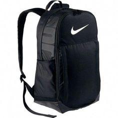 NWT Nike 2017 Brasilia XL Backpack 010 rtl Black white just do it Cute Backpacks For School, Girl Backpacks, Trendy Backpacks, Backpack Online, Laptop Backpack, Rucksack Backpack, Laptop Bags, Black Nike Backpack, Adidas Backpack