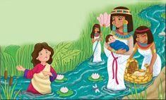 Adalia Helena: Lição 1 - Miriã ajuda a mamãe Joquebede: Pré - aula e subsidio - Maternal