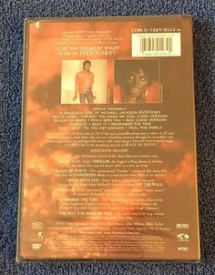 Michael Jackson - Video Greatest Hits - History Dvd