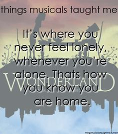 things musicals taught me: Wonderland