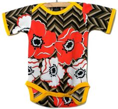 Chevron Poppy Onesie by lmkremer on Etsy