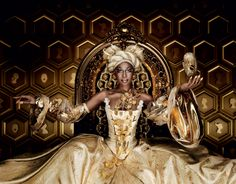 white-queen-and-the-gold-queen by Nicole Marnati designed by Marcel Wanders via wicked-halo.com