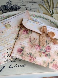 "Floral Envelopes--"" I AM Just Nuts About Pretty                               Envelopes"""
