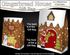 **COMING SOON** -  This lovely Gingerbread House Gift Bag kit will be available here within 12 hours - http://www.craftsuprint.com/carol-clarke/?r=380405