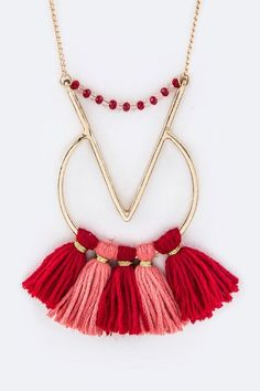 2 Styles - Tribal Tassel Necklaces - product images  of