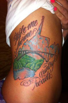 West Virginia tattoo, so pretty !!!