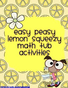 Easy Peasy Lemon Squeezy Activities for Math- great anchor activities for first!