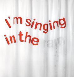 Shower curtain / cortina de ducha / Rideaux de duche. Modelo I´m singing in the rain de Cuca Canals. Made in Barcelona. www.cha-cha.es