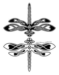 Celtic Knotwork Dragonfly by lkrecic || http://lkrecic.deviantart.com/art/Celtic-Knotwork-Dragonfly-405223184