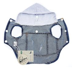 Companet Pet Vests Dog Denim Hoodies Dog Clothes Puppy Jacket Dog Outfit for Small Dogs Small Dog Clothes, Puppy Clothes, Dog Coat Pattern, Dog Raincoat, Dog Clothes Patterns, Dog Items, Pet Fashion, Dog Jacket, Dog Wear