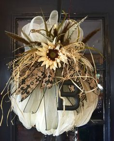 Fall Pumpkin Wreath Harvest Pumpkin WreathAutumn Pumpkin Wreath Animal Print Pumpkin