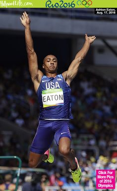 2-Time Decathlon GOLD Medalist Ashton Eaton of The United States, Winning The Long Jump: 7.94M 8/18/16