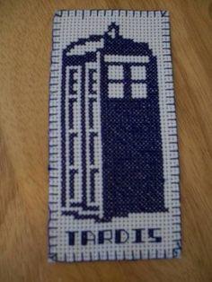 cross-stitch TARDIS bookmark for sasamafras, doctor who swap 6