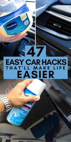 Whether youre trying to make your daily commute better or getting ready for a road trip these car hacks will instantly improve your driving experience. Car Cleaning Hacks, Household Cleaning Tips, Car Hacks, House Cleaning Tips, Diy Cleaning Products, Deep Cleaning, Cleaning Solutions, Cleaning Supplies, Car Life Hacks