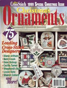 Just Cross Stitch 1999 Special Christmas Issue Christmas Ornaments Holiday.