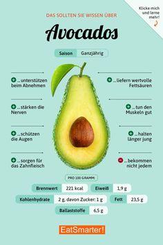 Das solltest du wissen über Avocados. | eatsmarter.de #ernährung #infografik #avocado