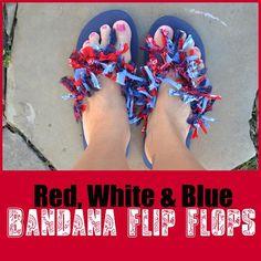 DIY Bandana Flip Flops