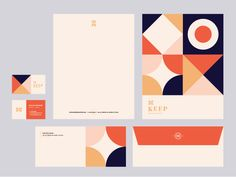 Keep it Real branding - totally has that midcentury feel with the shapes and colors.