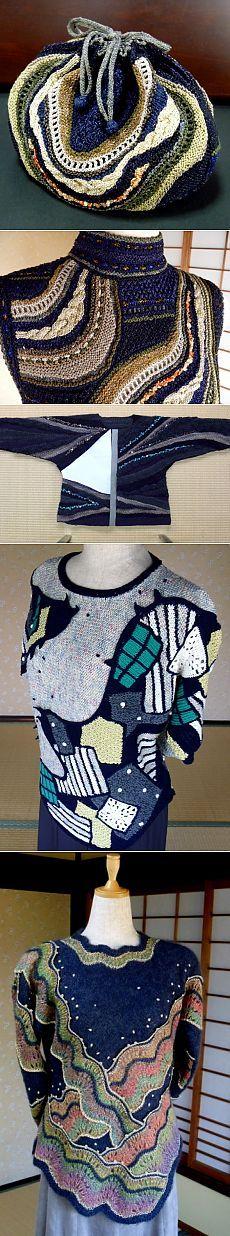 Beautiful knitting from YOKO ASADA