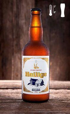 Cerveja Heilige Weissbier, estilo Witbier, produzida por Cervejaria Heilige, Brasil. 5.1% ABV de álcool.