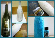 Dollar Store Crafts » Blog Archive » Tutorial: Faux Ceramic Bottle