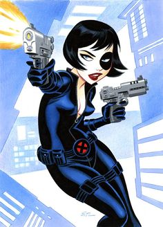 Marvel Heroes as Drawn by Bruce Timm Más Domino Marvel, Marvel Dc, Marvel Comics, Marvel Heroes, Domino Art, Bruce Timm, Comic Book Artists, Comic Artist, Comic Books Art