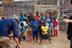 Jasyn Filming Local Children