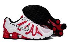 check out 2d9b8 bc0c7 Nike Shox Turbo 13 Scarpe Da Corsa Uomo Bianco Nero Rosso