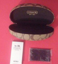 COACH HARD CASE SUNGLASSES SIGNATURE DESIGN EYEGLASSES CLEANING CLOTH TAN BROWN | Clothing, Shoes & Accessories, Women's Accessories, Sunglasses & Fashion Eyewear | eBay!