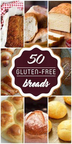 50 bread recipes that make you gluten-free - Recipes .- 50 Brotrezepte, die Sie glutenfrei machen – 50 bread recipes that make you gluten-free – free - Gluten Free Logo, Cookies Gluten Free, Gluten Free Desserts, Dairy Free Recipes, Wheat Free Recipes, Gluton Free Bread Recipes, Dessert Recipes, Diabetic Recipes, Vegan Gluten Free Bread