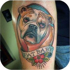 Dog Tribal Tattoos, Bone Tattoos, Tattoos Skull, Body Art Tattoos, Pet Tattoos, Tattoo Art, Traditional Tattoo Dog, Neo Traditional, Boxer Dog Tattoo