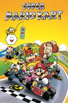 Super Mario Kart - Retro - Official Poster