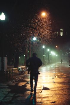 Elijah walking the streets late at night